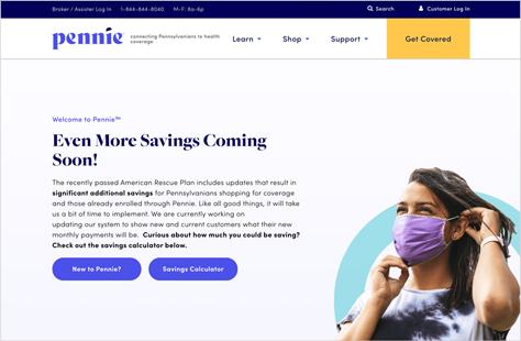 Pennie Healthcare Website